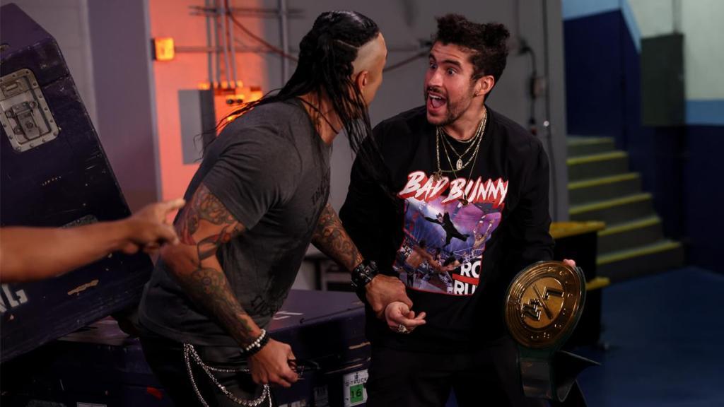 Bad Bunny como campeón en WWE