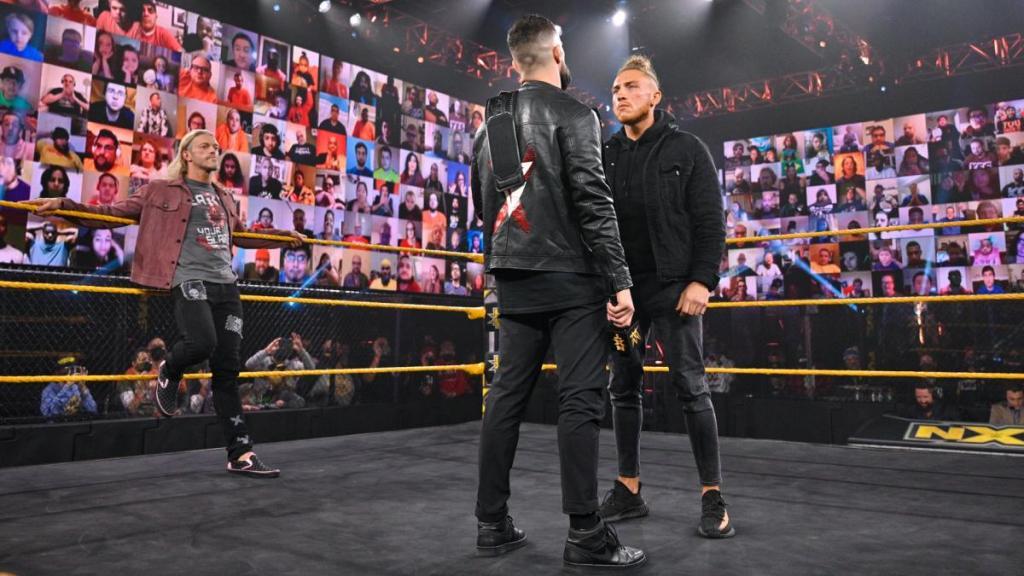 Finn Bálor, Pete Dunne y Edge en NXT