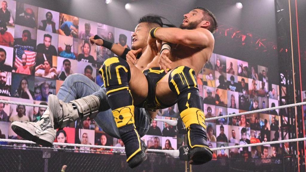 Gargano y Kushida en su combate