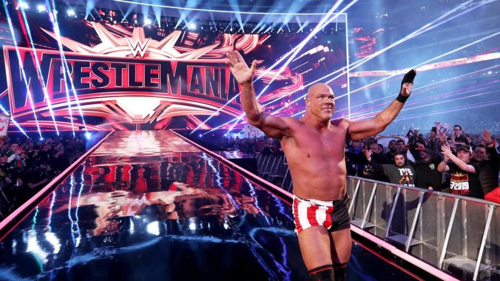 Kurt Angle en el día de su retiro