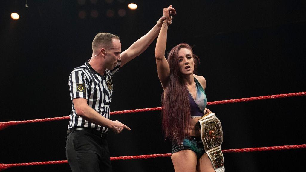 Kay Lee Ray tras ganar en NXT UK
