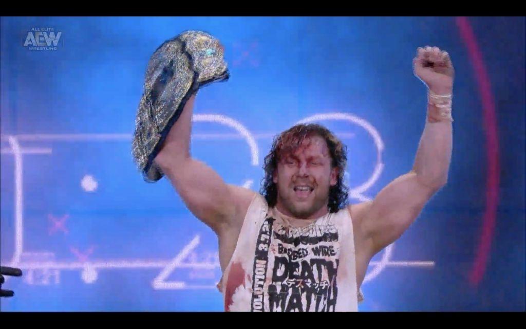Kenny Omega tras derrotar a Jon Moxley