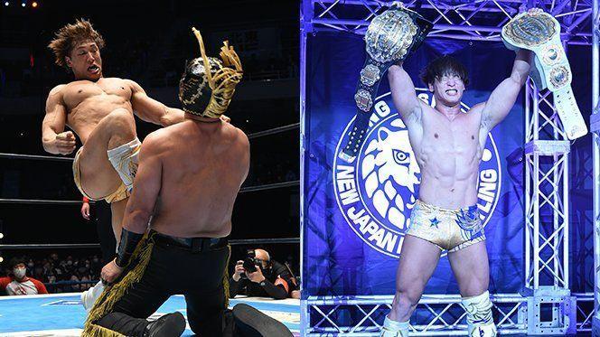 Kota Ibushi tras ganar en NJPW
