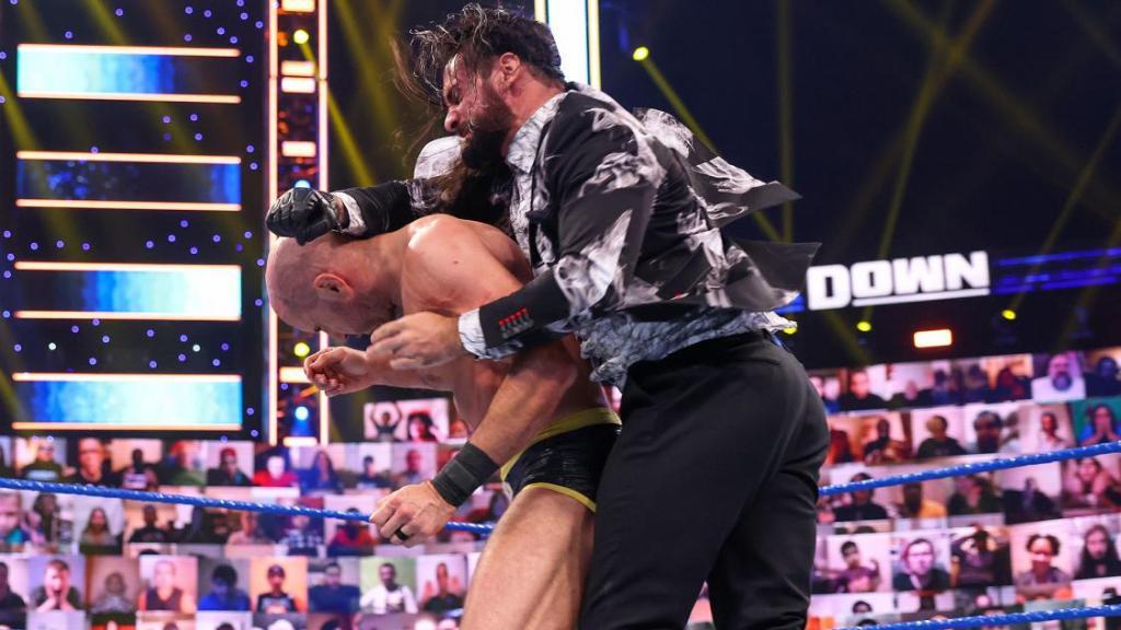 Cesaro y Rollins en SmackDown