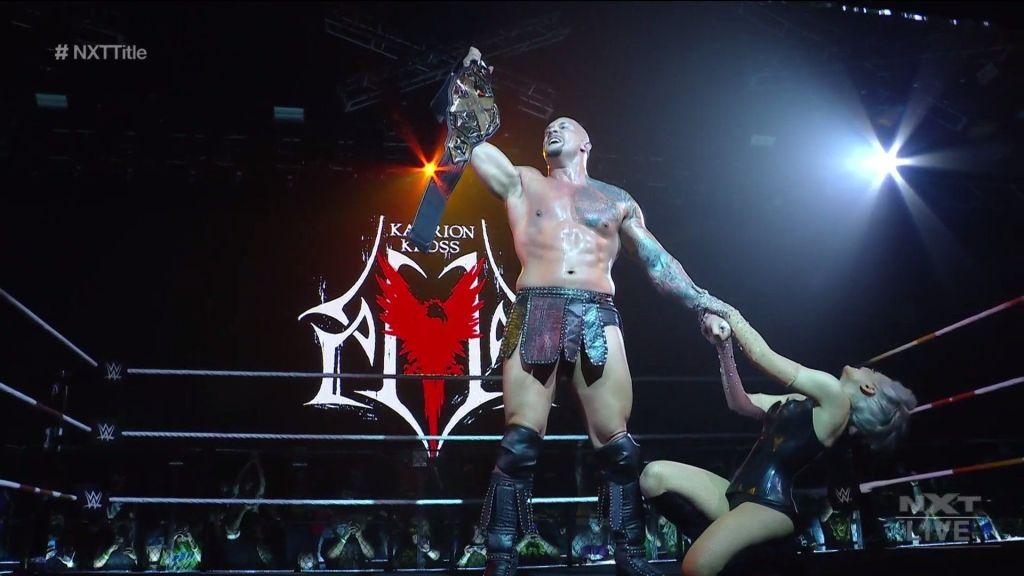 Kross como campeón de nxt