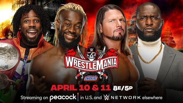 WM37 The New Day (c) vs. AJ Styles y Omos