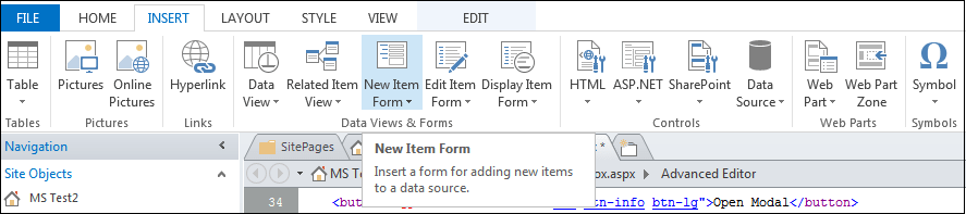 How To Open A List Form In A Bootstrap Modal Dialog Box