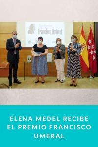 Elena Medel recibe el Premio Francisco Umbral