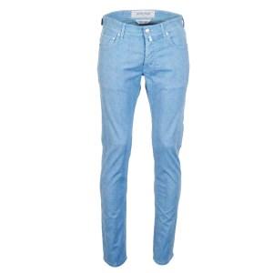 Jacob Cohen Herren Jeans Blau kariert Baumwollmix Luxus