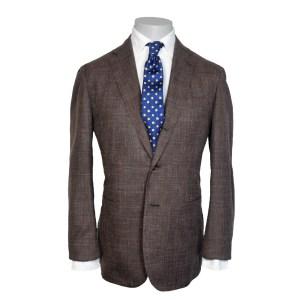 Stile Latino Herren Anzug Braun Wolle/Seide Einreiher Luxus
