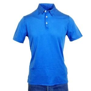 Fedeli Polo Kurzarm Blau Baumwolle