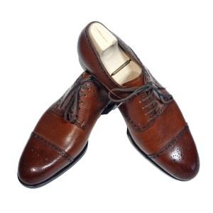 Saint Crispin`s Schuhe Herren Leder Braun Luxus