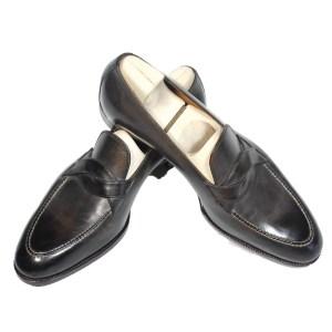 Saint Crispin`s Herren Schuhe Loafer Braun Slipper Luxus Leder