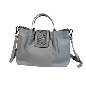Fabiana Filippi Damen Tasche geprägtes Leder Grau Luxus