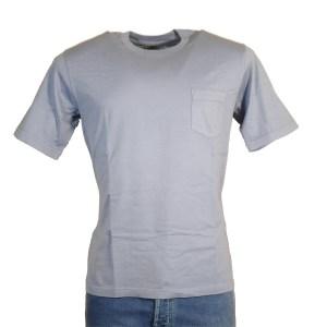 Fedeli T-Shirt Herren Taubenblau Kurzarm Baumwolle