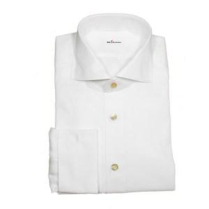 Kiton Hemd Herren Weiß Baumwolle Luxus