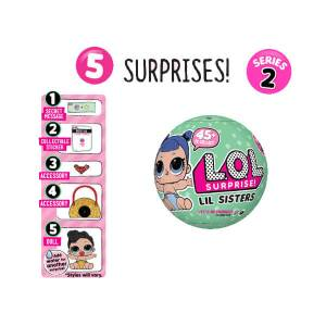 Sorpresas lol lil sisters serie 2 cinco capas