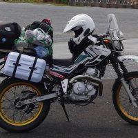 【格安】セロー250、サイドバッグを使わないで横に積載する裏技
