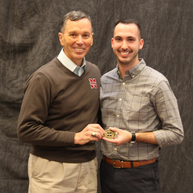 Adam Murtland '12 Awarded the MU Presidential Coin for Excellence