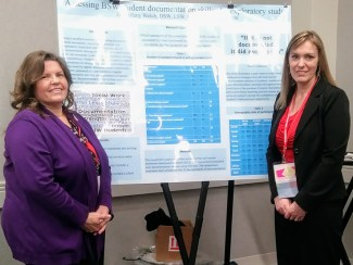 Lisa Kunzmann (left) and Tiffany Welch (right) at the SSWAA National Conference.