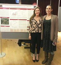 (L-R) Nicole Wynne, Assistant Professor of Chemistry Kristen Long