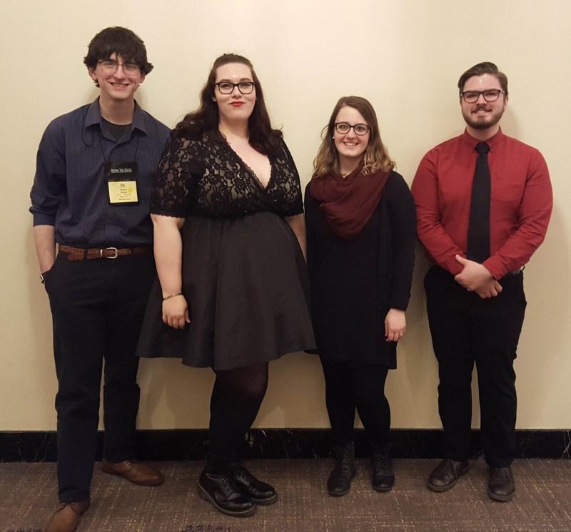 (L-R) Adam Setzer, Rachel Roupp '17, Courtney Mauck '15, Torrin Mauck.