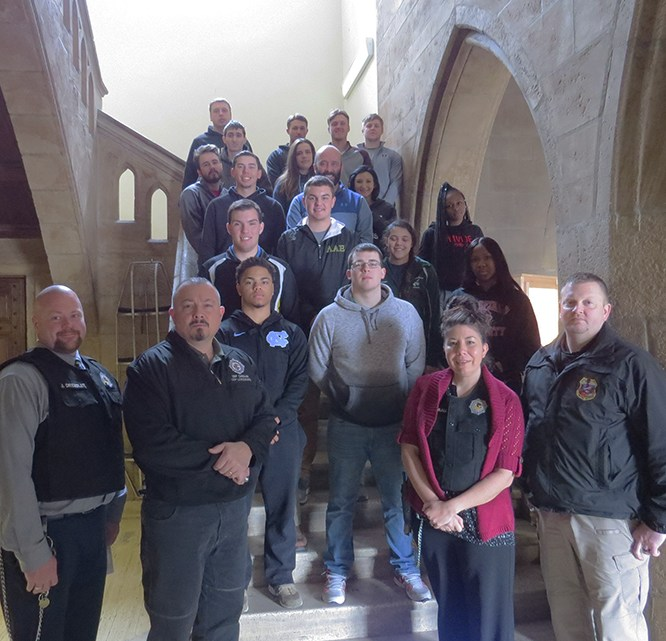 Mansfield Students and Professor Tour Lewisburg Federal Penitentiary