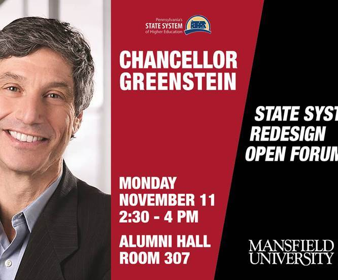PASSHE Chancellor Dan Greenstein to Hold Open Forum at Mansfield University on November 11