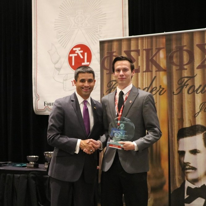 Devin MacGeorge Receives Outstanding Undergraduate Award from The Grand Chapter of Phi Sigma Kappa
