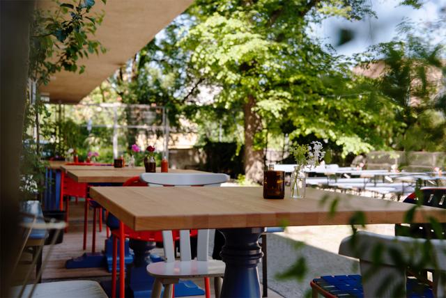 Blitz beer garden, Munich