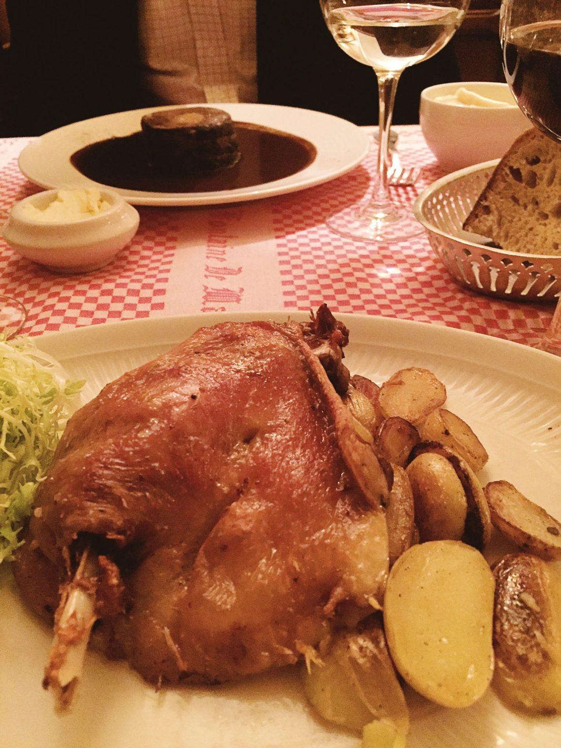 Dinner at Le Fontaine de Mars Paris france