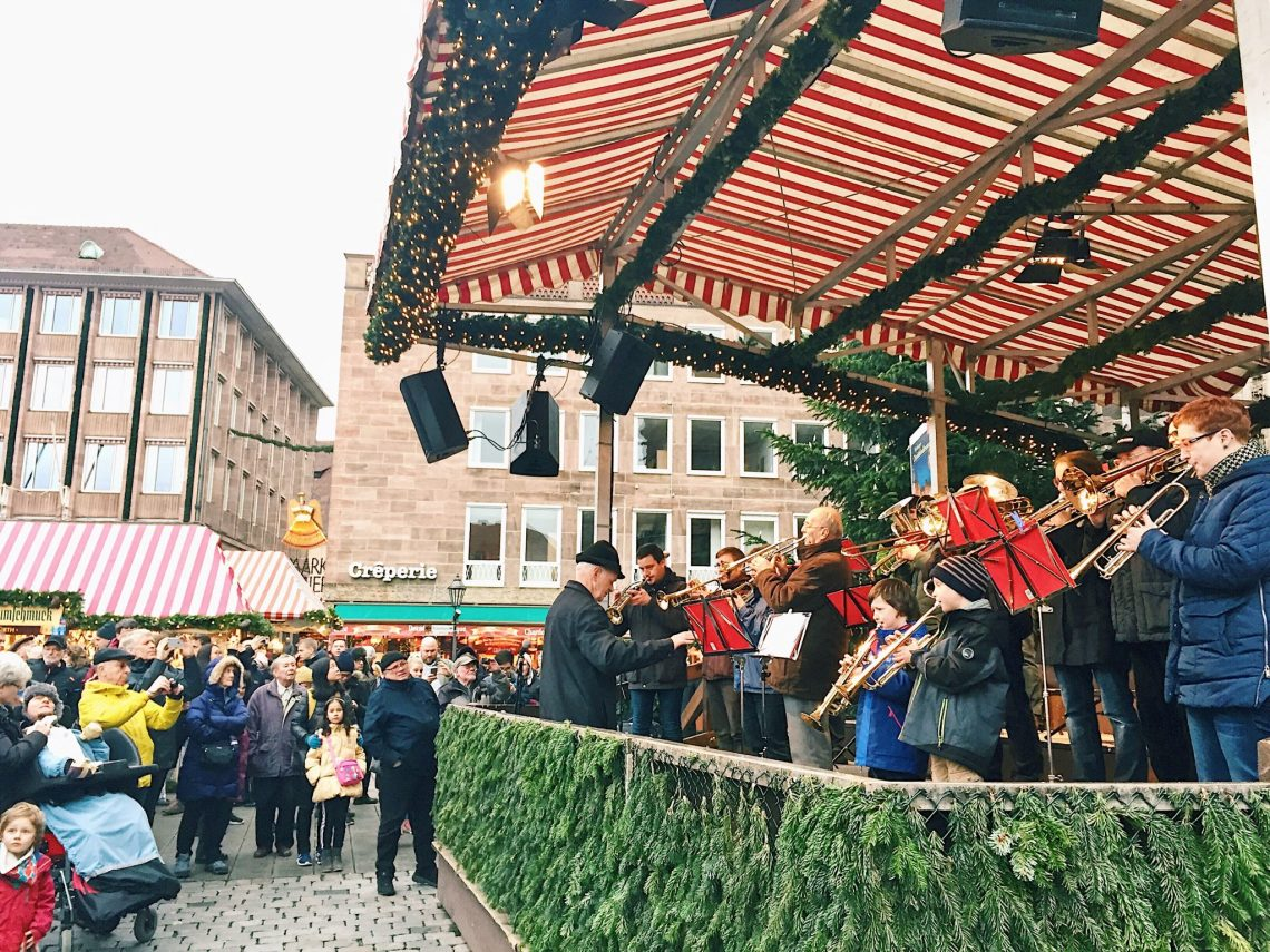 Live music at Nuremberg Christmas market