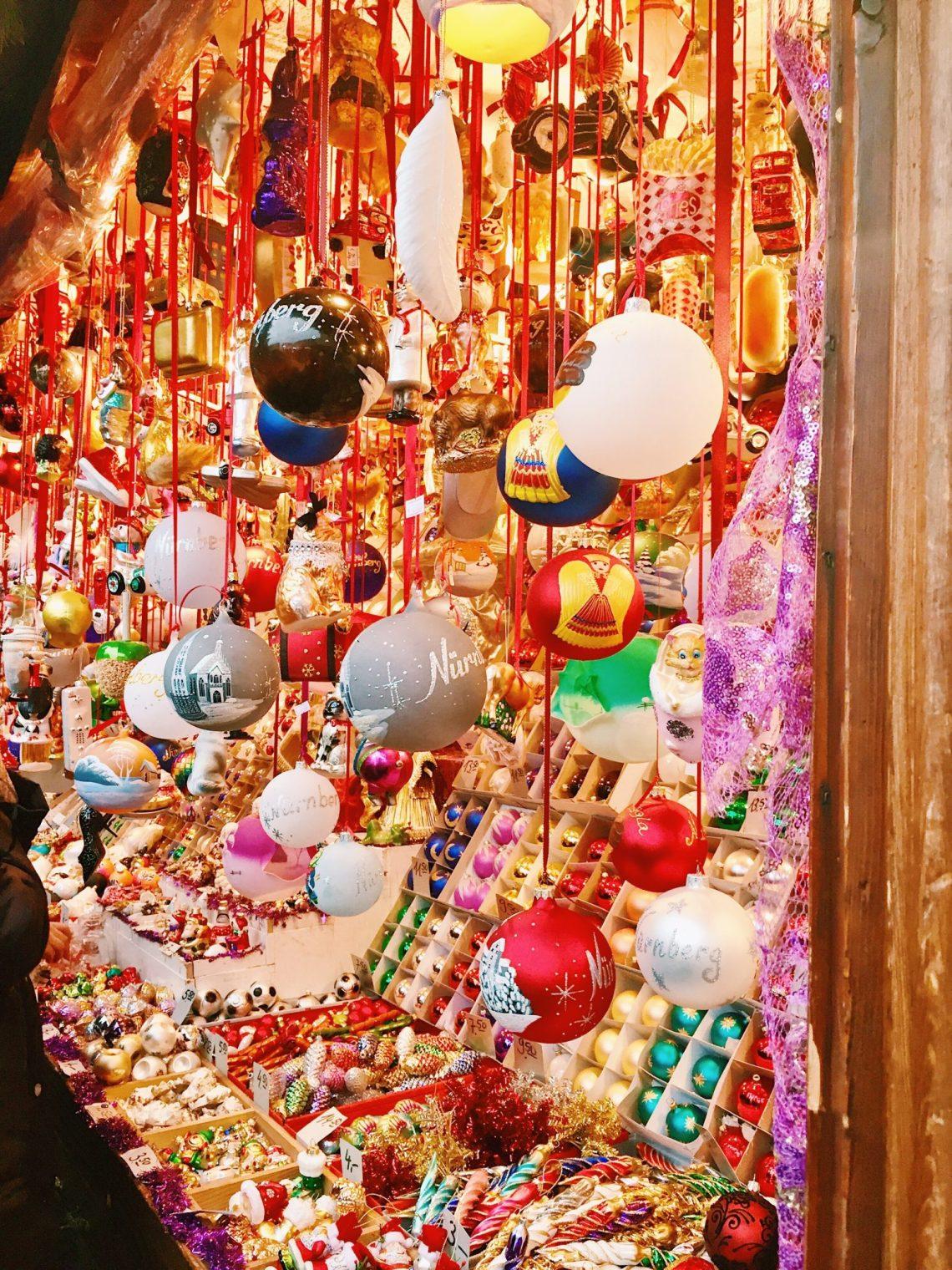 Nuremberg Germany christmas markets ornaments