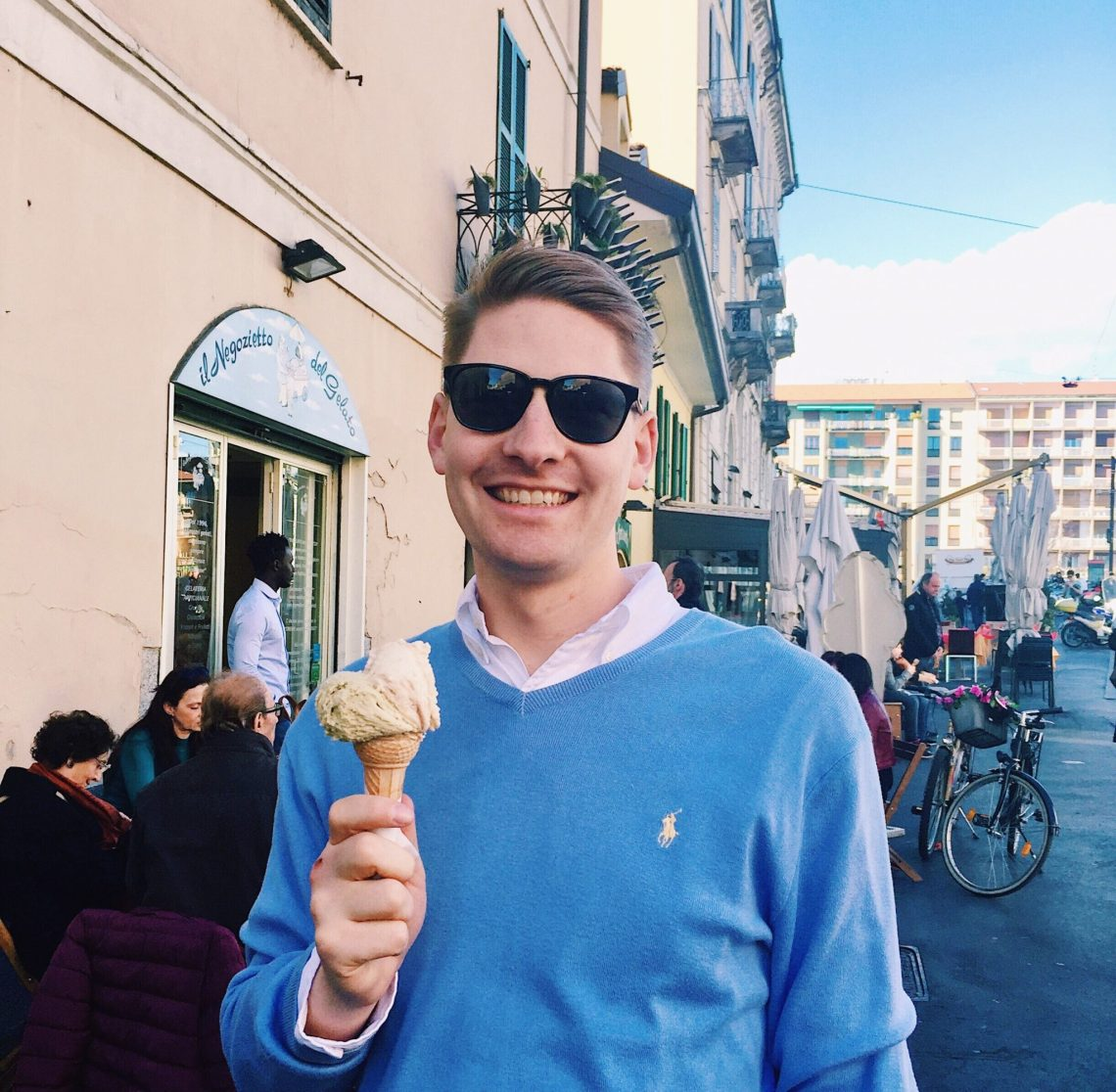 gelato in Milan