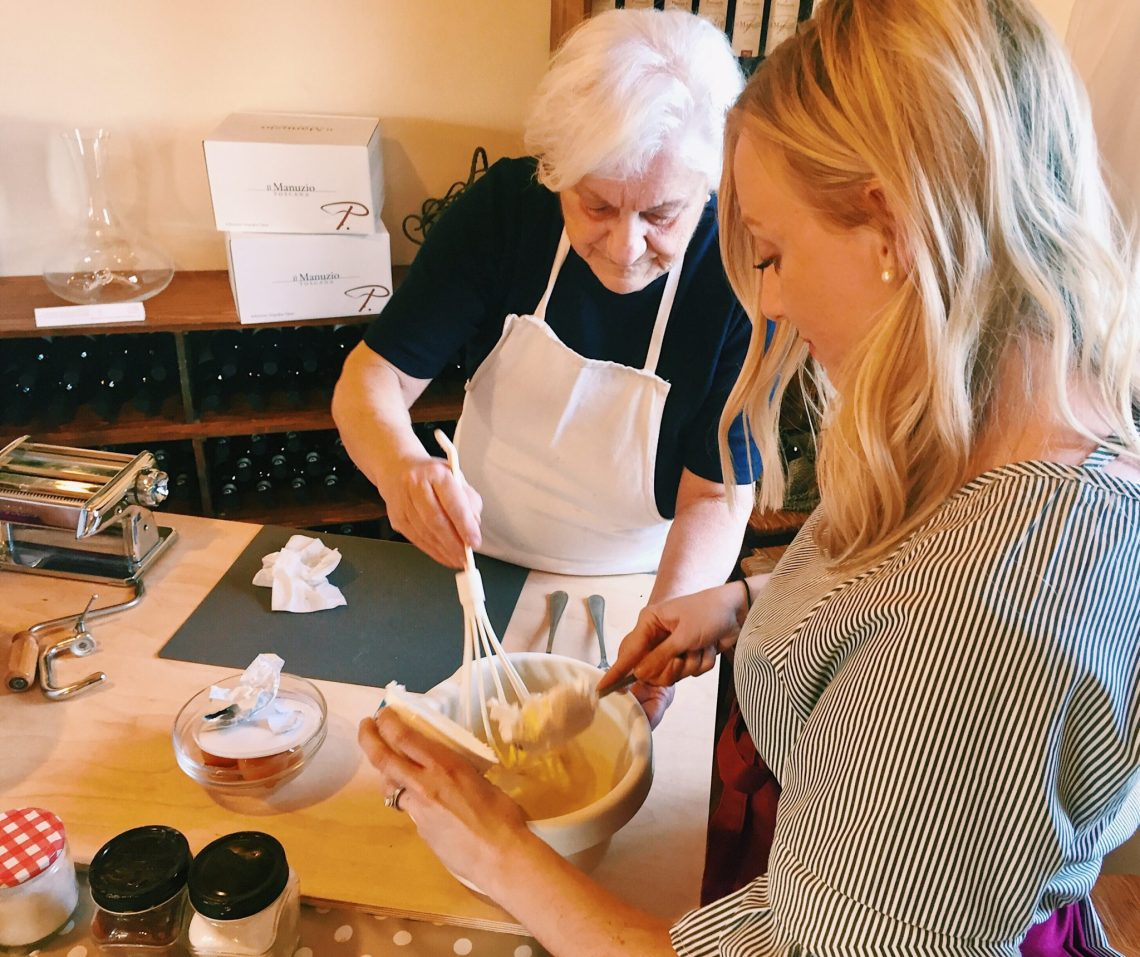 Cooking class in Tuscany, Italy