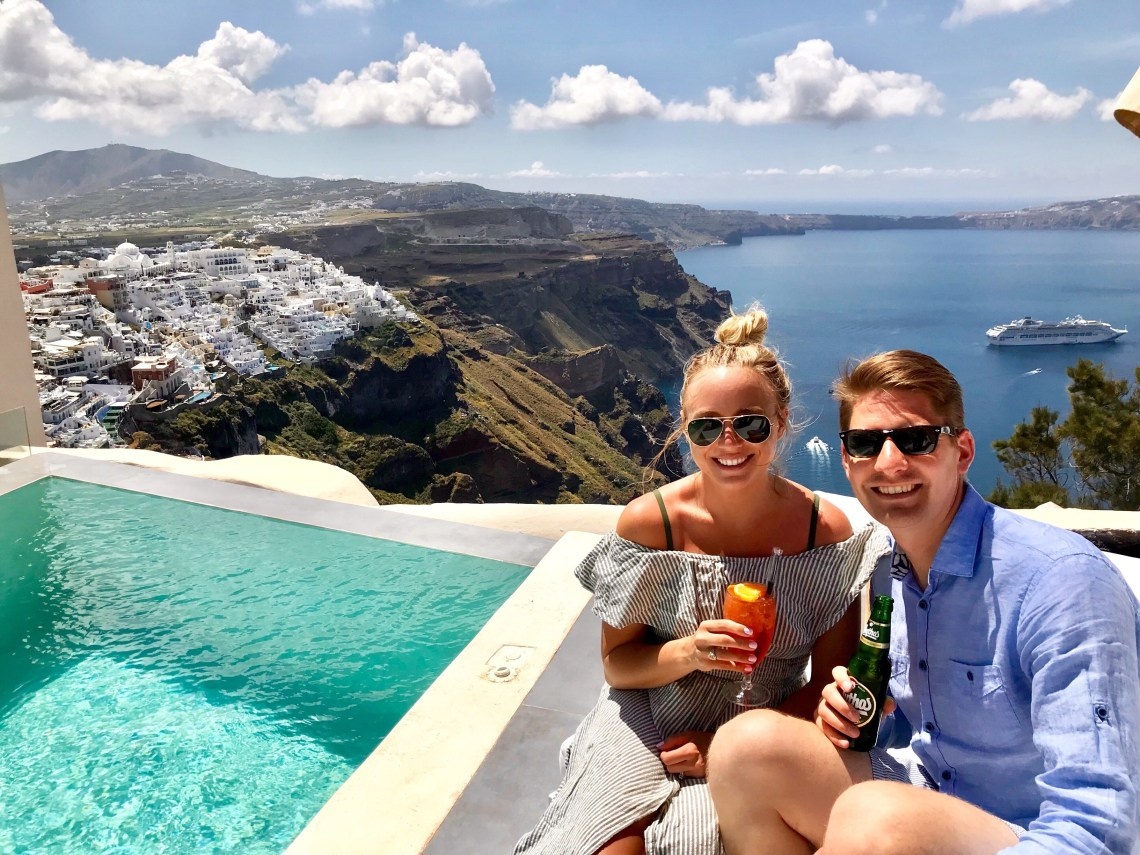 Mythical Blues Santorini hotel views
