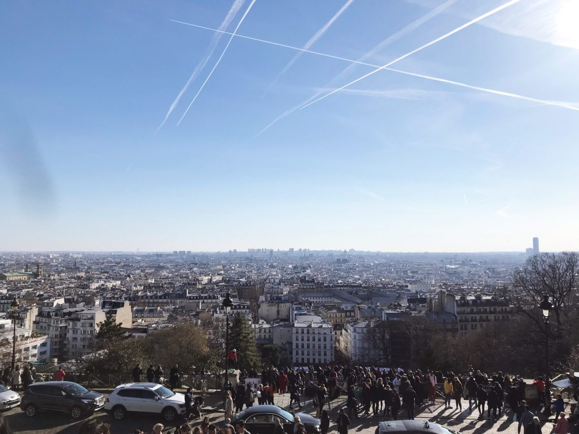 view from Sacre Ceour Paris