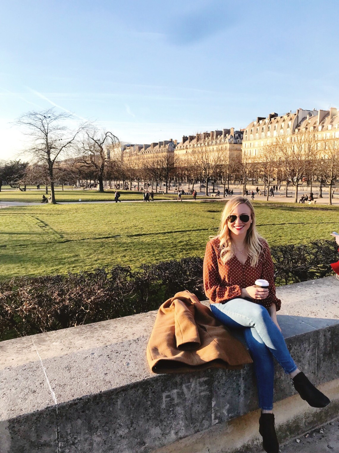 Tuileries Garden Paris France in February