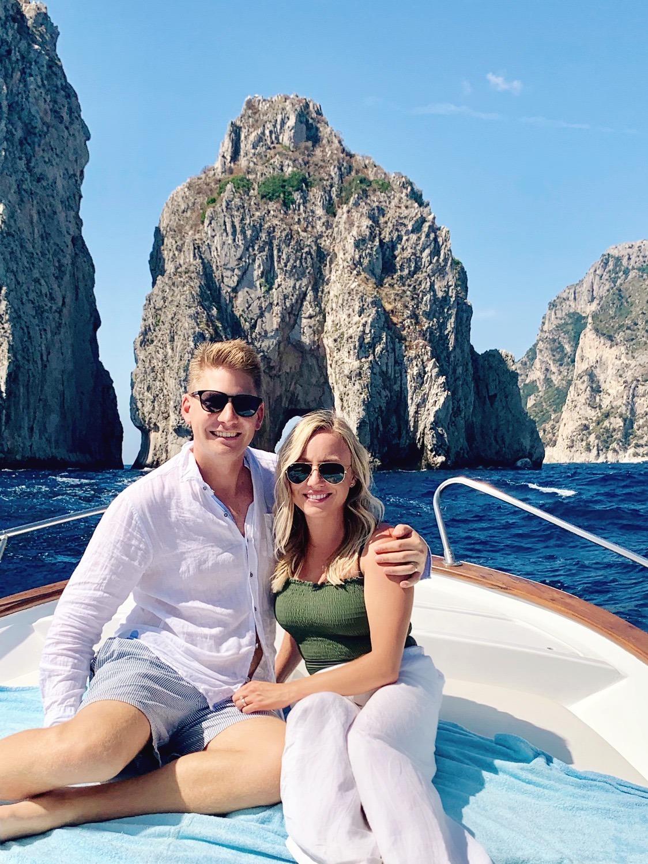 boat ride in Capri Faraglioni rocks