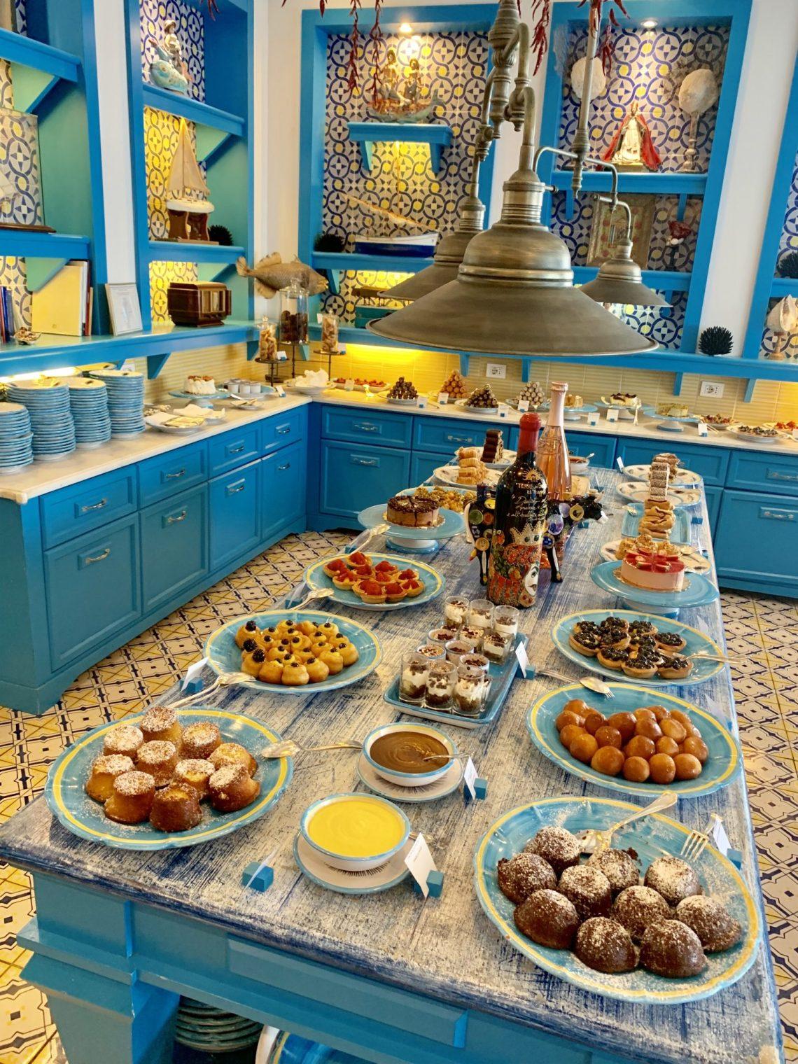 Dessert room at Il Riccio
