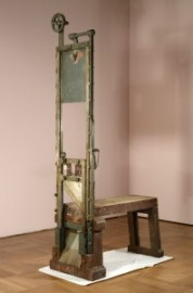 An undated handout photo released on 10 January 2014 by Bayerisches Nationalmuseum shows the alleged guillotine with which the Scholl siblings, Hans and Sophie were murdered during the Nazi regime, in the prison of Munich. The guillotine has been in custody at the storage of the Bavarian National Museum in Munich for the last forty years. The museum staff and authorities are now considering whether to display it or not. EPA/Walter Haberland