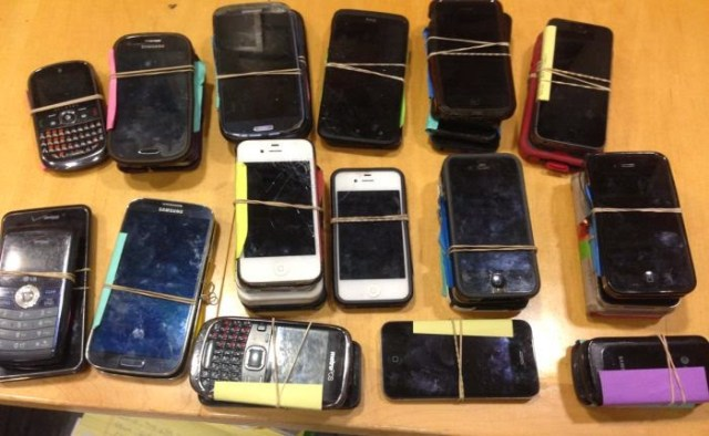 Hundreds of lost phones