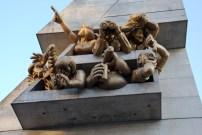 Spectator sculpture on the stadium of the Toronto Blue Jays