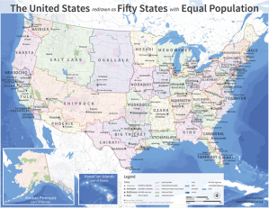 If every U.S. state had the same population, what would the map of America look like.