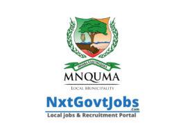 Mnquma Local Municipality vacancies 2021 | Amathole Government jobs | Eastern Cape Municipality vacancies