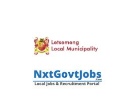 Letsemeng Local Municipality vacancies 2021 | Xhariep Government jobs | Free State Municipality vacancies