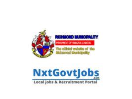Richmond Local Municipality vacancies 2021 | uMgungundlovu Government jobs | KwaZulu-Natal Municipality vacancies