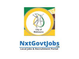 City of Matlosana Local Municipality vacancies 2021 | Dr Kenneth Kaunda Government jobs | North West Municipality vacancies