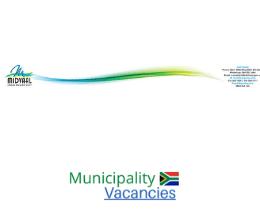 Midvaal Local municipality vacancies 2021   Midvaal Local vacancies   Gauteng Municipality