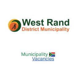 West Rand District municipality vacancies 2021   West Rand District vacancies   Gauteng Municipality